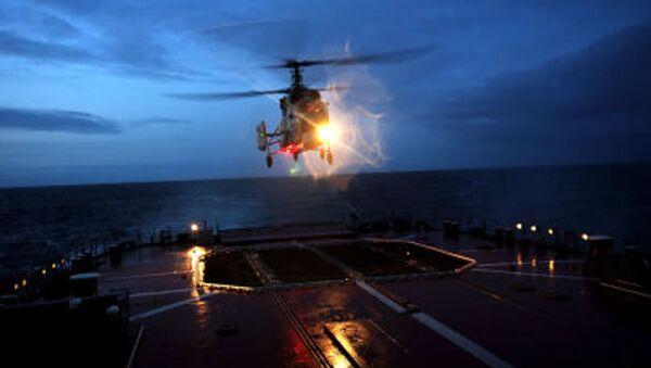 Helicóptero de la Flota rusa del Norte (archivo) - Sputnik Mundo