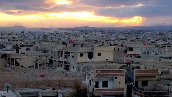 Edificios destruidos en Daraya, Siria - Sputnik Mundo