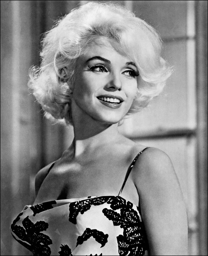 Portrait taken in 1962 of American actress Marilyn Monroe during her last movie Something's got to give