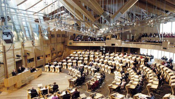 Scottish lawmakers at the new Scottish Parliament building, in Edinburgh. (File) - Sputnik Mundo