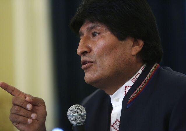 Evo Morales, el presidente de Bolivia (archivo)