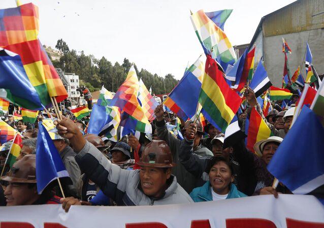 Seguidores de Evo Morales, presidente de Bolivia