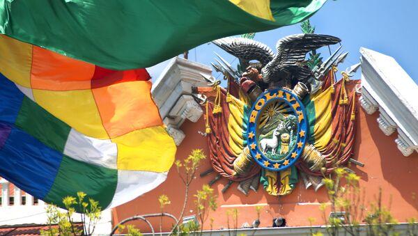 Escudo de Bolivia en el Palacio de Gobierno - Sputnik Mundo