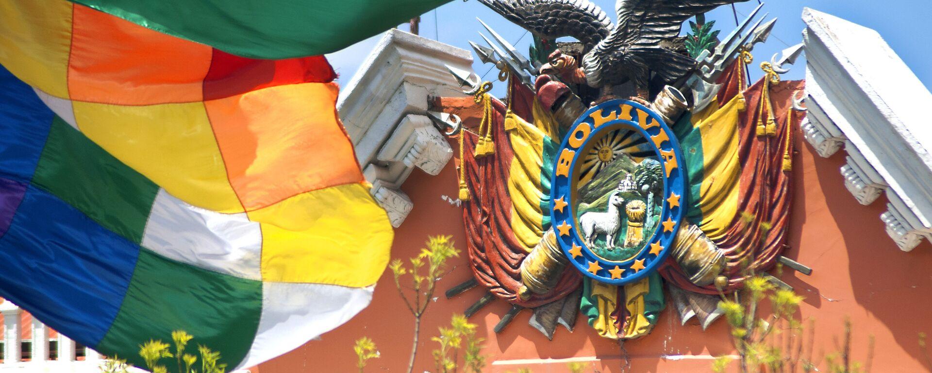 Escudo de Bolivia en el Palacio de Gobierno - Sputnik Mundo, 1920, 08.03.2021