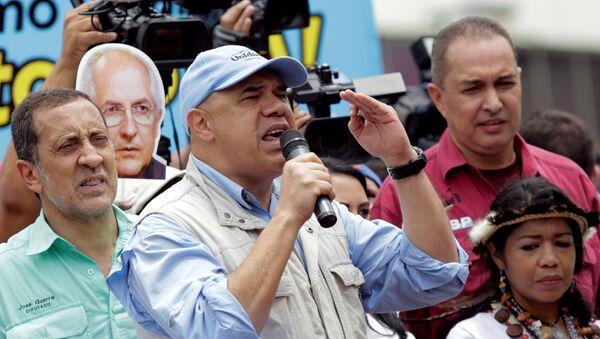 Jesús Torrealba, coordinador de la alianza opositora MUD - Sputnik Mundo