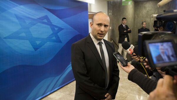 Abir Naftali Bennett, líder del partido 'El Hogar Judío', uno de los principales socios de Gobierno del primer ministro israelí, Benjamín Netanyahu - Sputnik Mundo