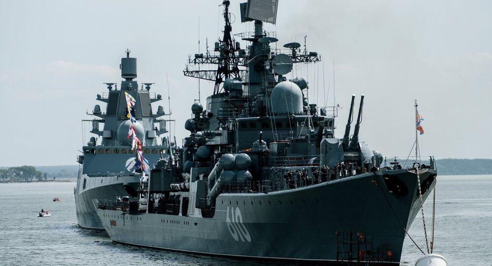 Buque destructor ruso (archivo)
