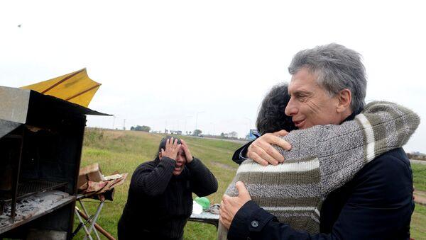 Visita de Mauricio Macri, presidente de Argentina, a la parrilla de Alfredo Farías - Sputnik Mundo