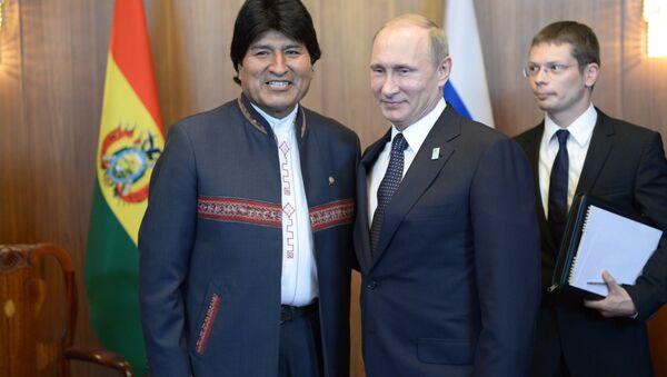 Presidente de Bolivia, Evo Morales, y presidente de Rusia, Vladímir Putin - Sputnik Mundo