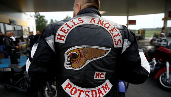 Miembro del club de motociclistas estadounidense 'Hell's Angels' - Sputnik Mundo