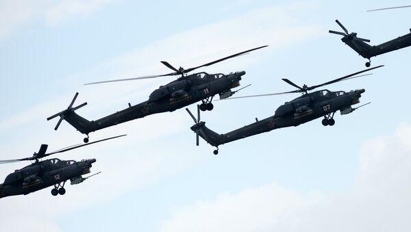 Los helicópteros Mi-28NE 'Cazador Nocturno' - Sputnik Mundo