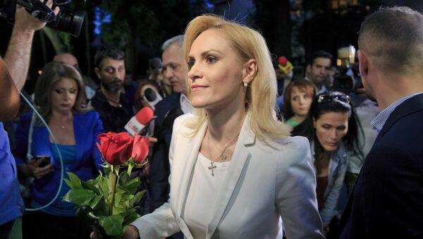 Gabriele Firea, candidata del Partido Socialdemócrata de Rumanía, después de haber ganado las elecciones a la alcaldía de Bucarest - Sputnik Mundo