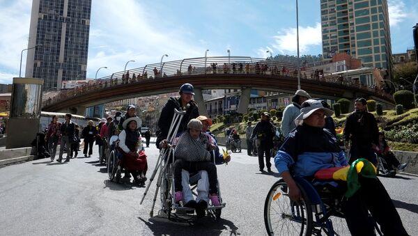 Movimiento de personas con discapacidad en Bolivia - Sputnik Mundo