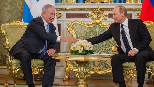 Primer ministro de Israel, Benjamín Netanyahu, y presidente de Rusia, Vladímir Putin (archivo) - Sputnik Mundo