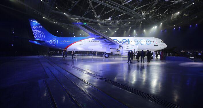 Presentación del nuevo avión de pasajeros MS-21