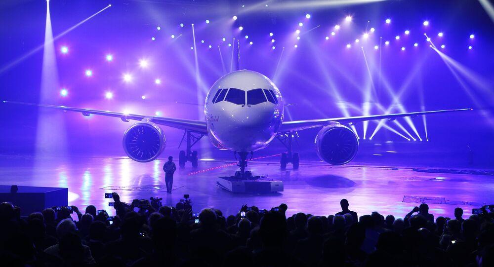 Presentanción del nuevo avión de pasajeros MS-21