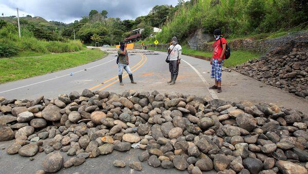 Protesta de indígenas y campesinos en Colombia (archivo) - Sputnik Mundo