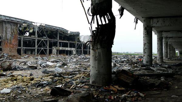 Edificios destruidos por bombardeos, Donetsk - Sputnik Mundo