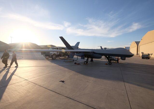 Un dron estadounidense en Afganistán