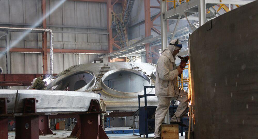 La construcción de reactor de neutrones rápidos (imagen referencial)