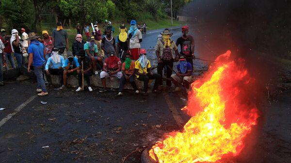 Protesta de indígenas en Colombia (archivo) - Sputnik Mundo