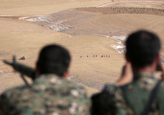 Las Fuerzas Democráticas Sirias en los alrededores de Manbij