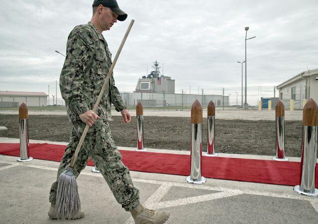 Un militar estadounidense en la base de Deveselu, Rumanía