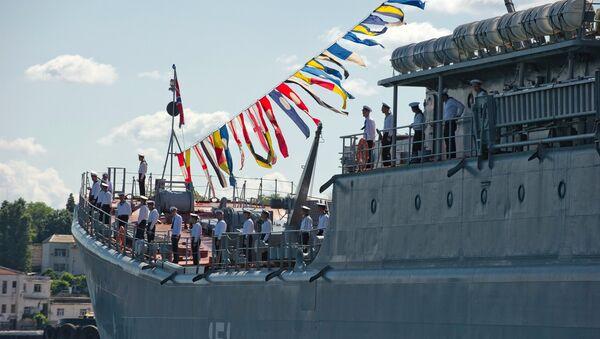 El arribo de la fragata Admiral Grigoróvich a Sebastopol - Sputnik Mundo