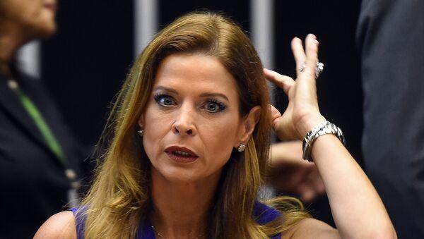 Claudia Cordeiro Cruz, esposa del expresidente de la Cámara de Diputados Eduardo Cunha - Sputnik Mundo