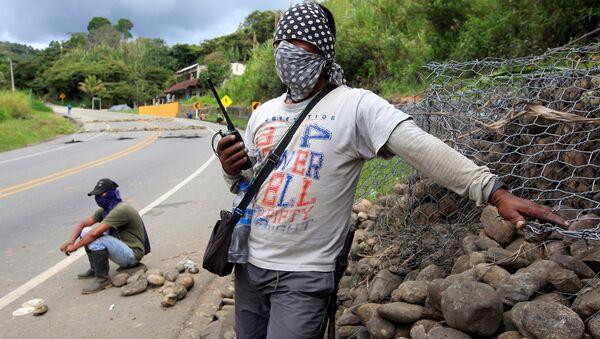 Protesta de indígenas y campesinos en Colombia - Sputnik Mundo