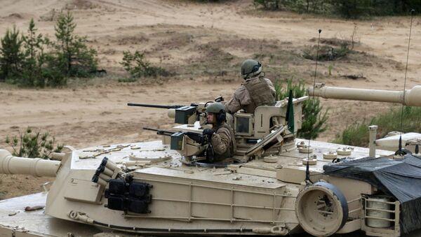 El tanque estadounidense Abrams - Sputnik Mundo