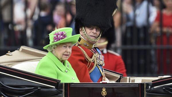 Isabel II durante la celebración de su 90 cumpleaños. 11 de junio de 2016. - Sputnik Mundo