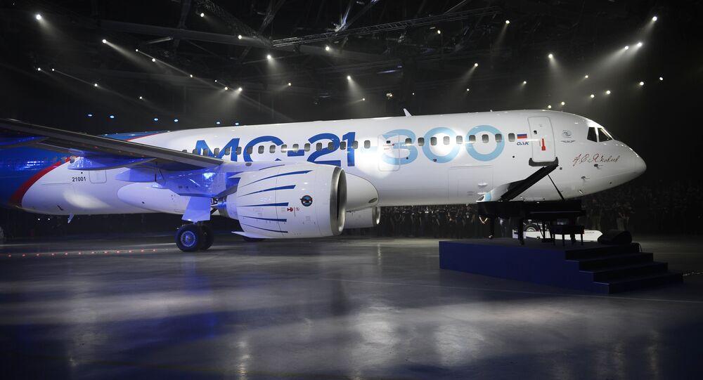 El nuevo avión de pasajeros ruso MS-21