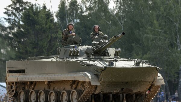 Los blindados rusos BMP-3 - Sputnik Mundo