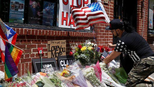 El homenaje de las victimas de Orlando en Nueva York - Sputnik Mundo