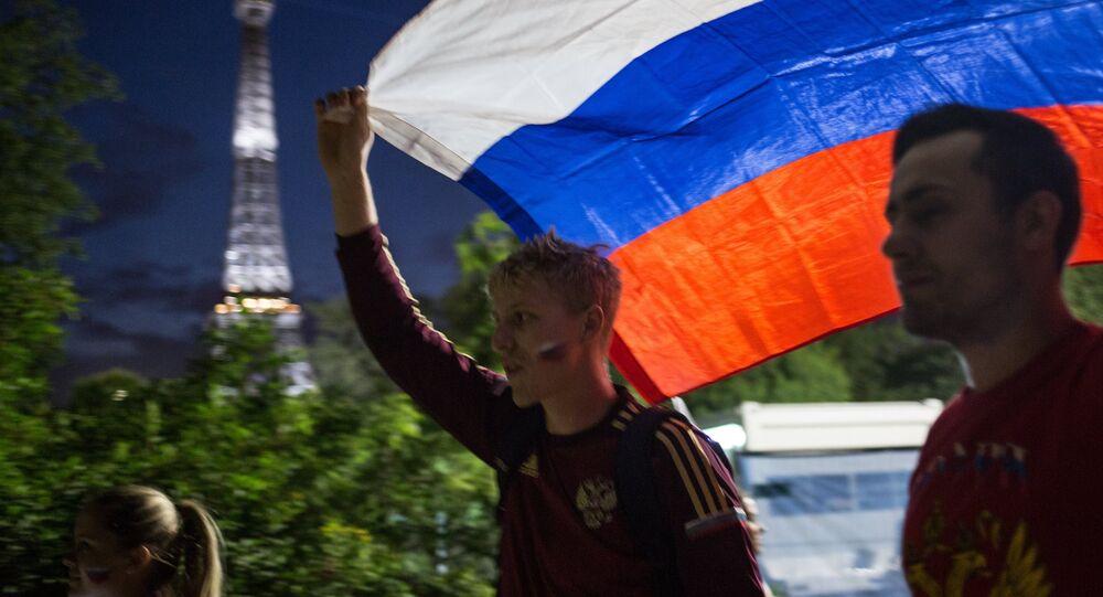 Hinchas rusos en Francia