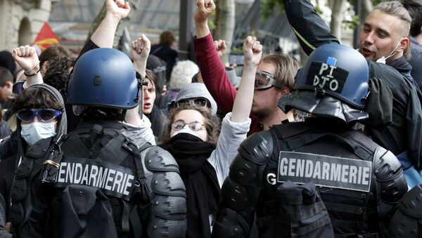 Protestas en Francia contra la reforma laboral - Sputnik Mundo