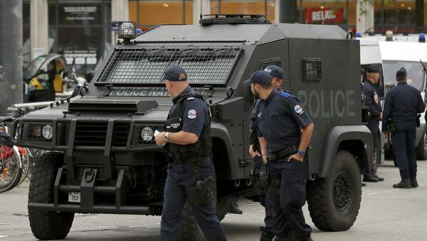 Policía francesa en Lille - Sputnik Mundo