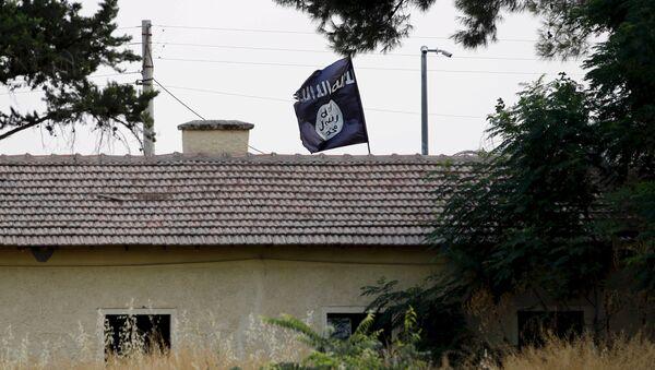 Bandera de Daesh - Sputnik Mundo