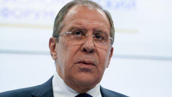 Serguéi Lavrov, ministro de Exteriores de Rusia, en el SPIEF 2016 - Sputnik Mundo
