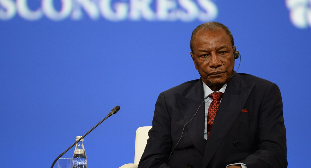 Alpha Condé, el presidente de la República de Guinea
