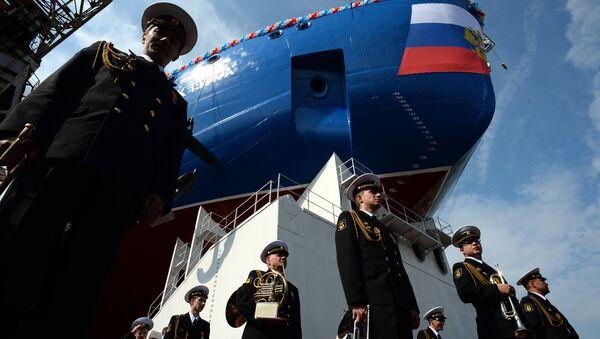 La botadura del rompehielos ruso Árktika - Sputnik Mundo