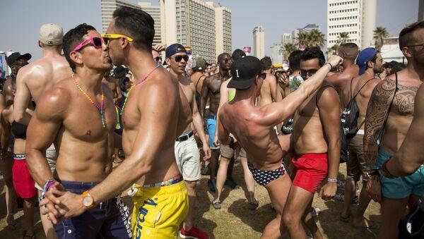 El desfile de orgullo gay en Israel - Sputnik Mundo