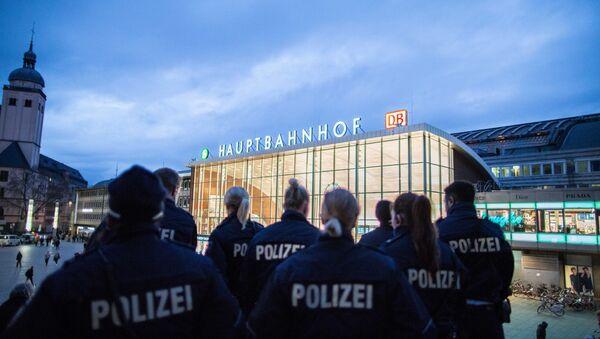 Policias en el aeropuerto de Colonia Bonn (archivo) - Sputnik Mundo