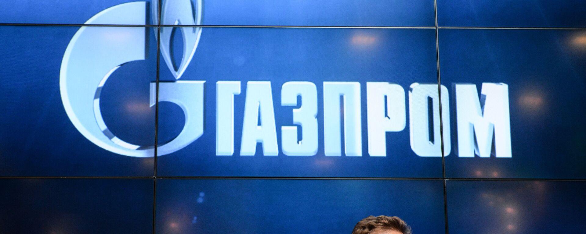 Logo della Gazprom russa - Sputnik World, 1920, 27.09.2021