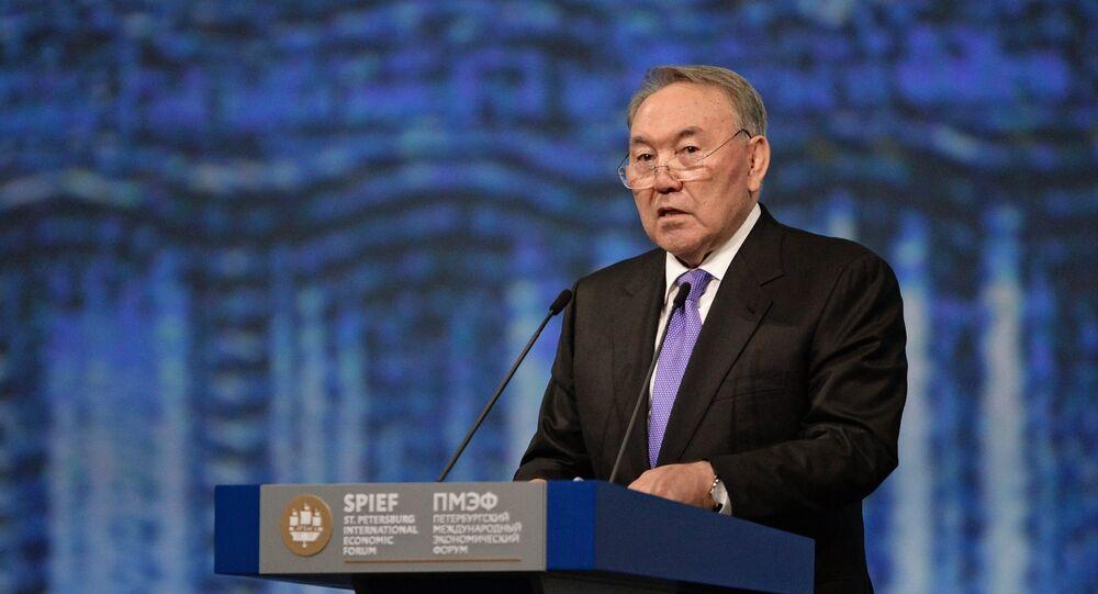 Nursultán Nazarbáyev, presidente de Kazajistán (archivo)
