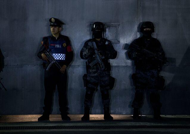 Los policías mexicanos (Archivo)
