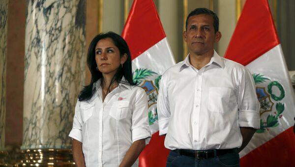 El expresidente de Perú, Ollanda Humala, junto a su mujer, Nadine Heredia - Sputnik Mundo