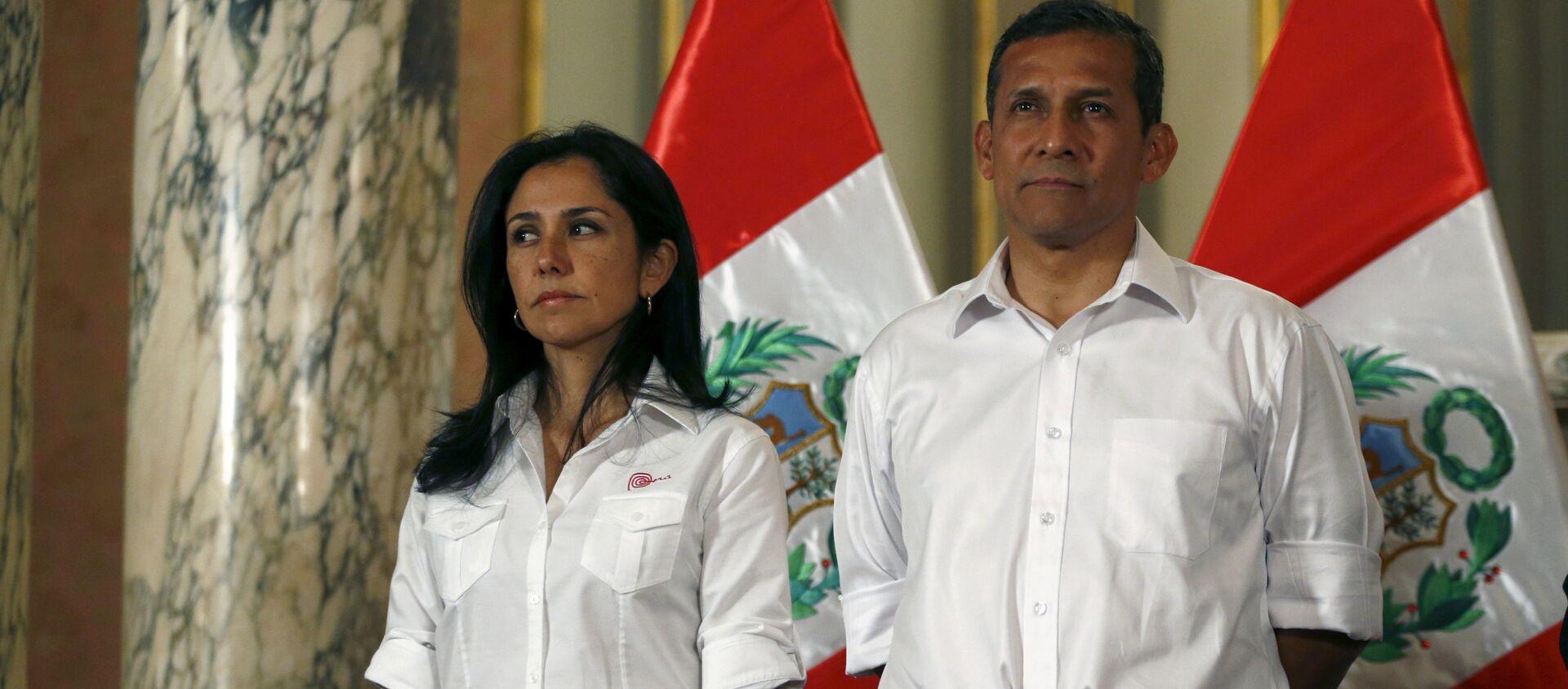 El expresidente de Perú, Ollanda Humala, junto a su mujer, Nadine Heredia - Sputnik Mundo, 1920, 18.09.2020
