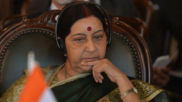 La titular de Asuntos Exteriores de la India, Sushma Swaraj - Sputnik Mundo